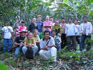 Yachil group touring coffee fields with us